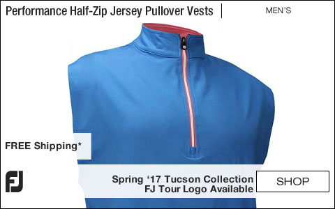 FJ Performance Half-Zip Jersey Pullover Golf Vests with Gathered Waist - Tucson Collection