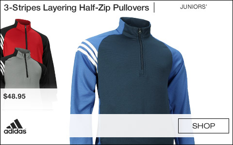 Adidas 3-Stripes Layering Half-Zip Junior Golf Pullovers
