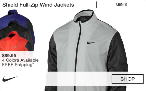 Nike Shield Full-Zip Golf Wind Jackets