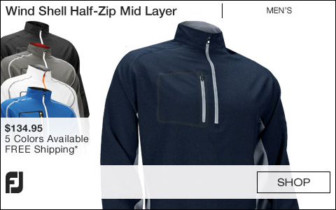 FJ Wind Shell Half-Zip Mid Layer Golf Jackets