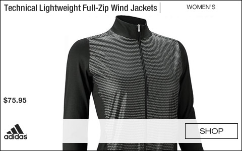 Adidas Women's Technical Lightweight Full-Zip Golf Wind Jackets