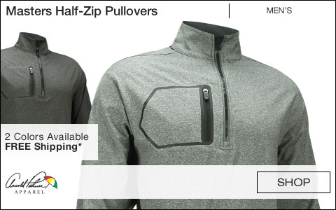 Arnold Palmer Masters Half-Zip Golf Pullovers