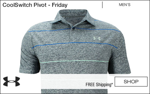 Under Armour CoolSwitch Pivot Golf Shirts - Jordan Spieth First Major Friday