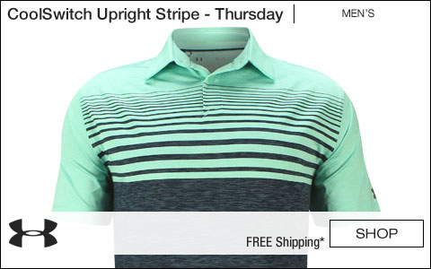 Under Armour CoolSwitch Upright Stripe Golf Shirts - Jordan Spieth First Major Thursday