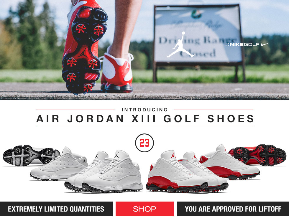 Nike Air Jordan 13 Golf Shoes Now Available