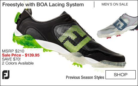 FJ Freestyle Golf Shoes with BOA Lacing System