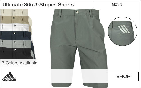 Adidas Ultimate 365 3-Stripes Golf Shorts