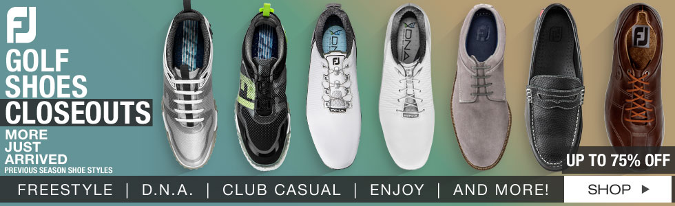 New Shipment of FJ Golf Shoes Closeouts