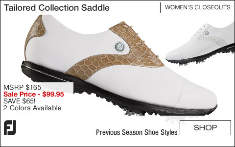 FJ Tailored Collection Saddle Women's Golf Shoes - CLOSEOUTS