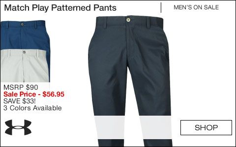 Under Armour Match Play Patterned Golf Pants - ON SALE