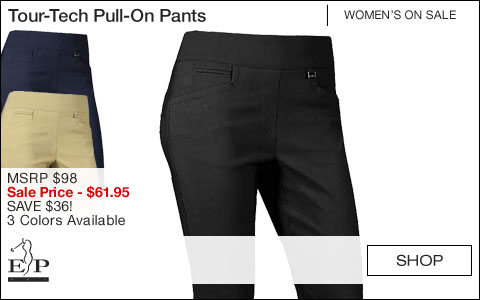 EP Pro Women's Tour-Tech Pull-On Golf Pants - ON SALE