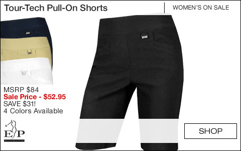 EP Pro Women's Tour-Tech Pull-On Golf Shorts - ON SALE