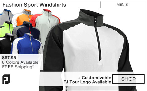 FJ Fashion Sport Golf Windshirts - FJ Tour Logo Available