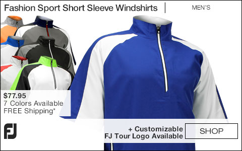 FJ Fashion Sport Short Sleeve Golf Windshirts - FJ Tour Logo Available