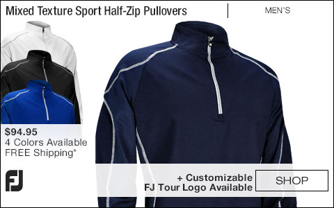 FJ Mixed Texture Sport Half-Zip Golf Pullovers - FJ Tour Logo Available