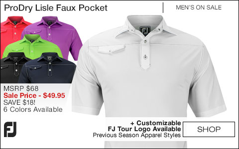 FJ ProDry Performance Lisle Faux Pocket Golf Shirts - Athletic Fit - FJ Tour Logo Available - ON SALE