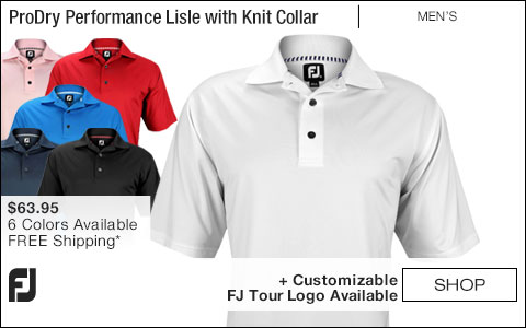 FJ ProDry Performance Lisle Golf Shirts with Knit Collar - FJ Tour Logo Available