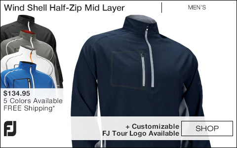 FJ Wind Shell Half-Zip Mid Layer Golf Jackets - FJ Tour Logo Available