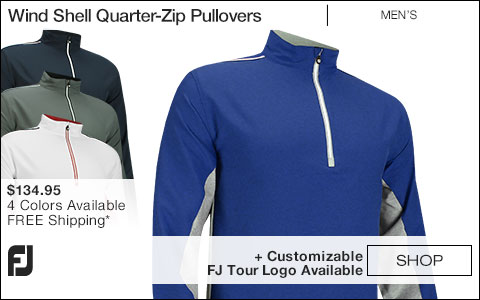 FJ Wind Shell Quarter-Zip Golf Pullovers - FJ Tour Logo Available