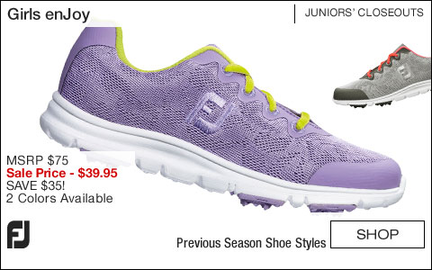 FJ Girls enJoy Junior Golf Shoes - CLOSEOUTS