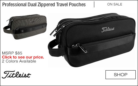 Titleist Professional Dual Zippered Travel Pouches - ON SALE