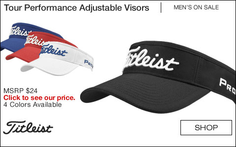 Titleist Tour Performance Adjustable Golf Visors - ON SALE