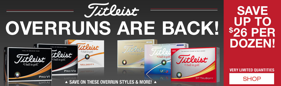 Titleist Overrun Golf Balls Are Back