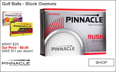 Pinnacle Golf Balls - Stock Overruns