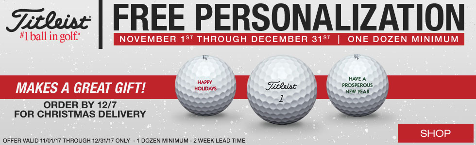 Titleist Free Holiday Personalization on Golf Balls