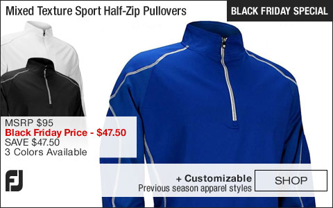 FJ Mixed Texture Sport Half-Zip Golf Pullovers - FJ Tour Logo Available - BLACK FRIDAY SPECIAL
