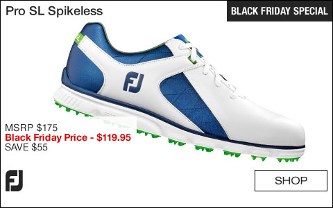 FJ Pro SL Spikeless Golf Shoes - BLACK FRIDAY SPECIAL