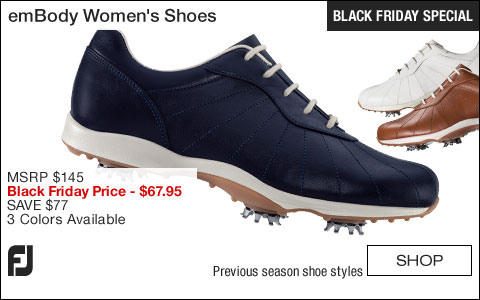 FJ emBody Women's Golf Shoes - CLOSEOUTS - BLACK FRIDAY SPECIAL