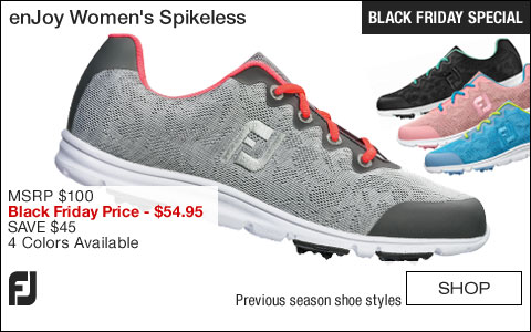 FJ enJoy Women's Spikeless Golf Shoes - CLOSEOUTS - BLACK FRIDAY SPECIAL