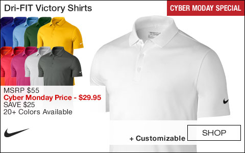 Nike Dri-FIT Victory Golf Shirts - CYBER MONDAY SPECIAL