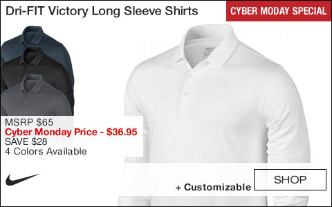 Nike Dri-FIT Victory Long Sleeve Golf Shirts - CYBER MONDAY SPECIAL