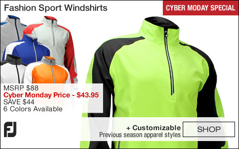 FJ Fashion Sport Golf Windshirts - FJ Tour Logo Available - CYBER MONDAY SPECIAL