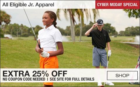 All Eligible Jr. Apparel Extra 25% Off - CYBER MONDAY SPECIAL