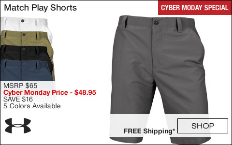 Under Armour Match Play Golf Shorts - CYBER MONDAY SPECIAL
