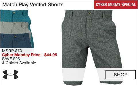 Under Armour Match Play Vented Golf Shorts - CYBER MONDAY SPECIAL