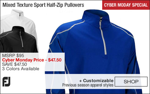 FJ Mixed Texture Sport Half-Zip Golf Pullovers - FJ Tour Logo Available - CYBER MONDAY SPECIAL