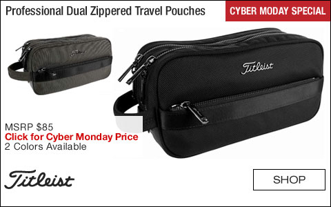 Titleist Professional Dual Zippered Travel Pouches - CYBER MONDAY SPECIAL