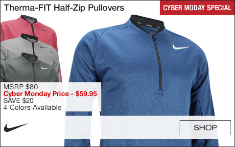 Nike Therma-FIT Half-Zip Golf Pullovers - CYBER MONDAY SPECIAL