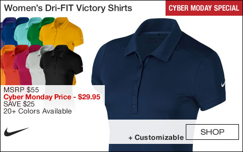 Nike Women's Dri-FIT Victory Golf Shirts - CYBER MONDAY SPECIAL