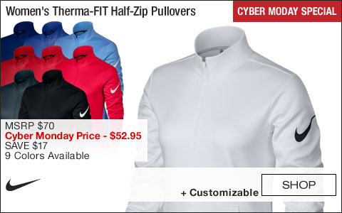Nike Women's Therma-FIT Half-Zip Golf Pullovers - CYBER MONDAY SPECIAL