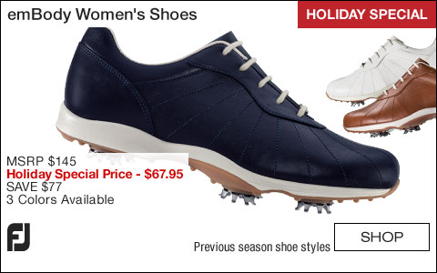 FJ emBody Women's Golf Shoes - CLOSEOUTS - HOLIDAY SPECIAL