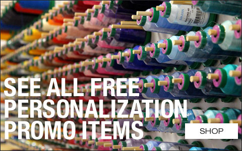 See All Free Personalization Promo Items