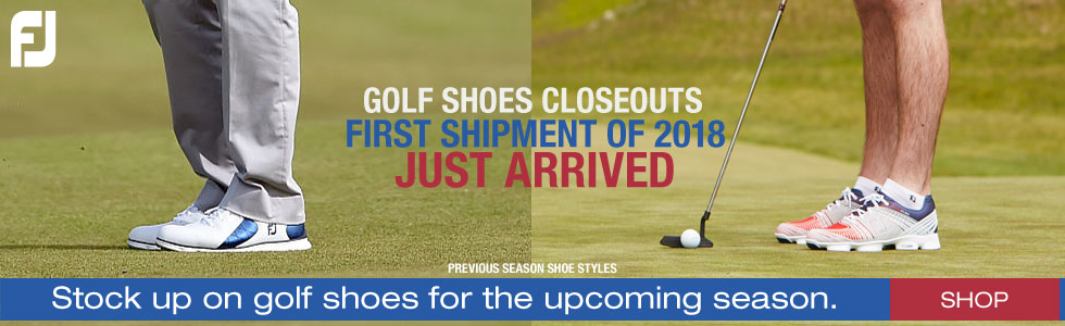 First Shipment of FJ Golf Shoes Closeouts of 2018