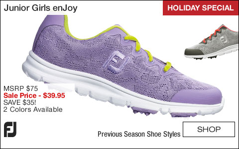 FJ Girl's enJoy Junior Golf Shoes - CLOSEOUTS - HOLIDAY SPECIAL