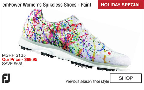 FJ emPower Women's Spikeless Golf Shoes - Paint - CLOSEOUTS - HOLIDAY SPECIAL