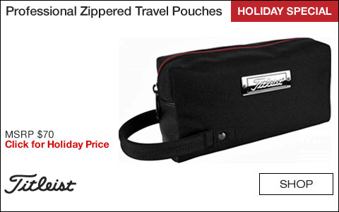 Titleist Professional Zippered Travel Pouches - HOLIDAY SPECIAL